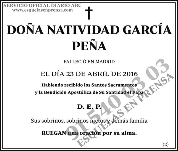 Natividad García Peña